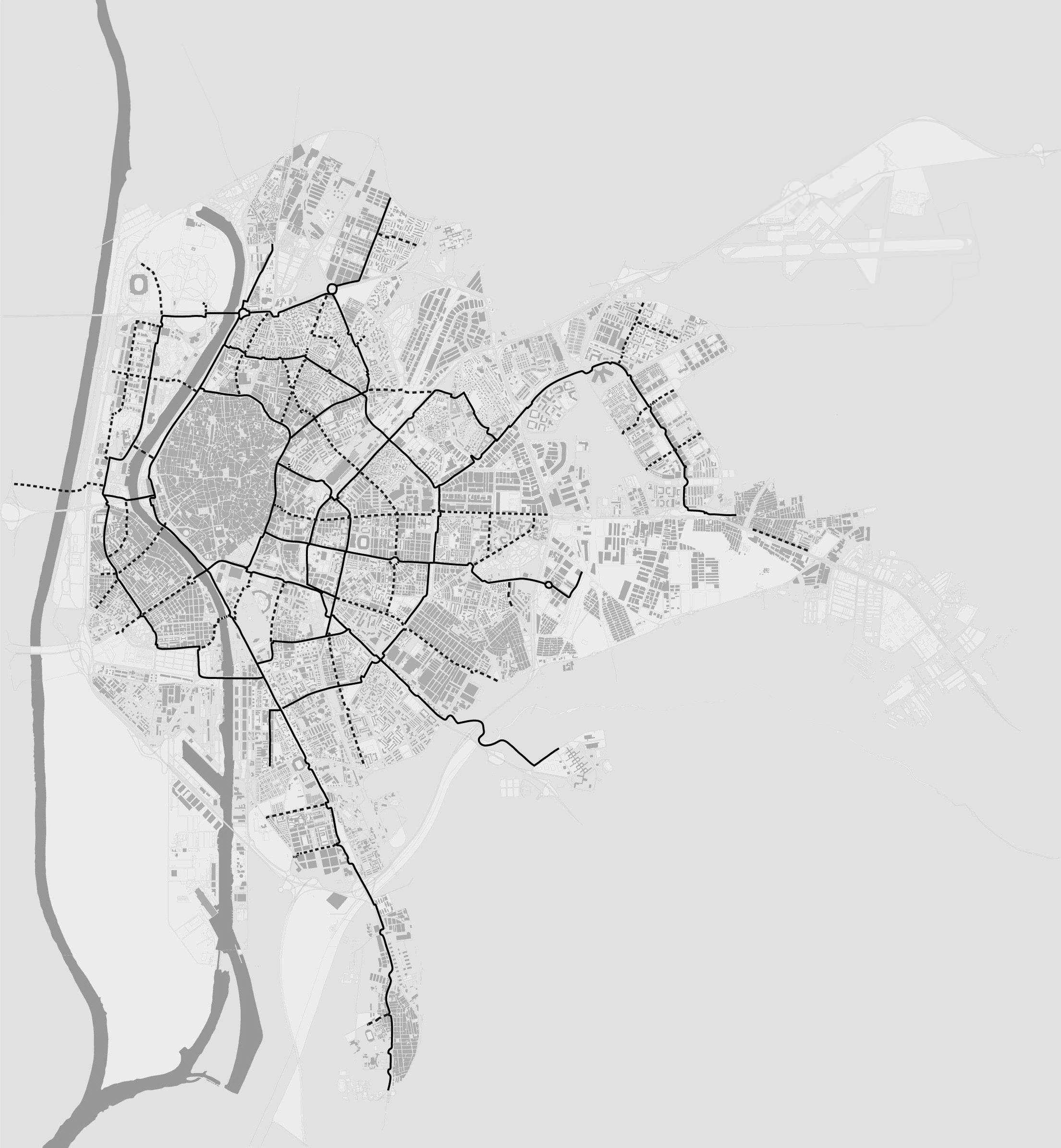 Radwegenetz Bauphasen Sevilla 2006 bis 2010