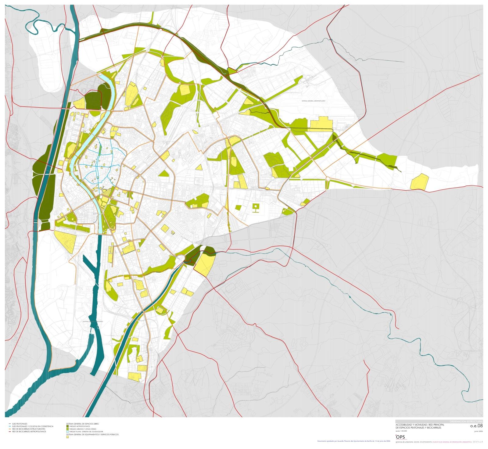 Zielnetz Radverkehr Sevilla 2006