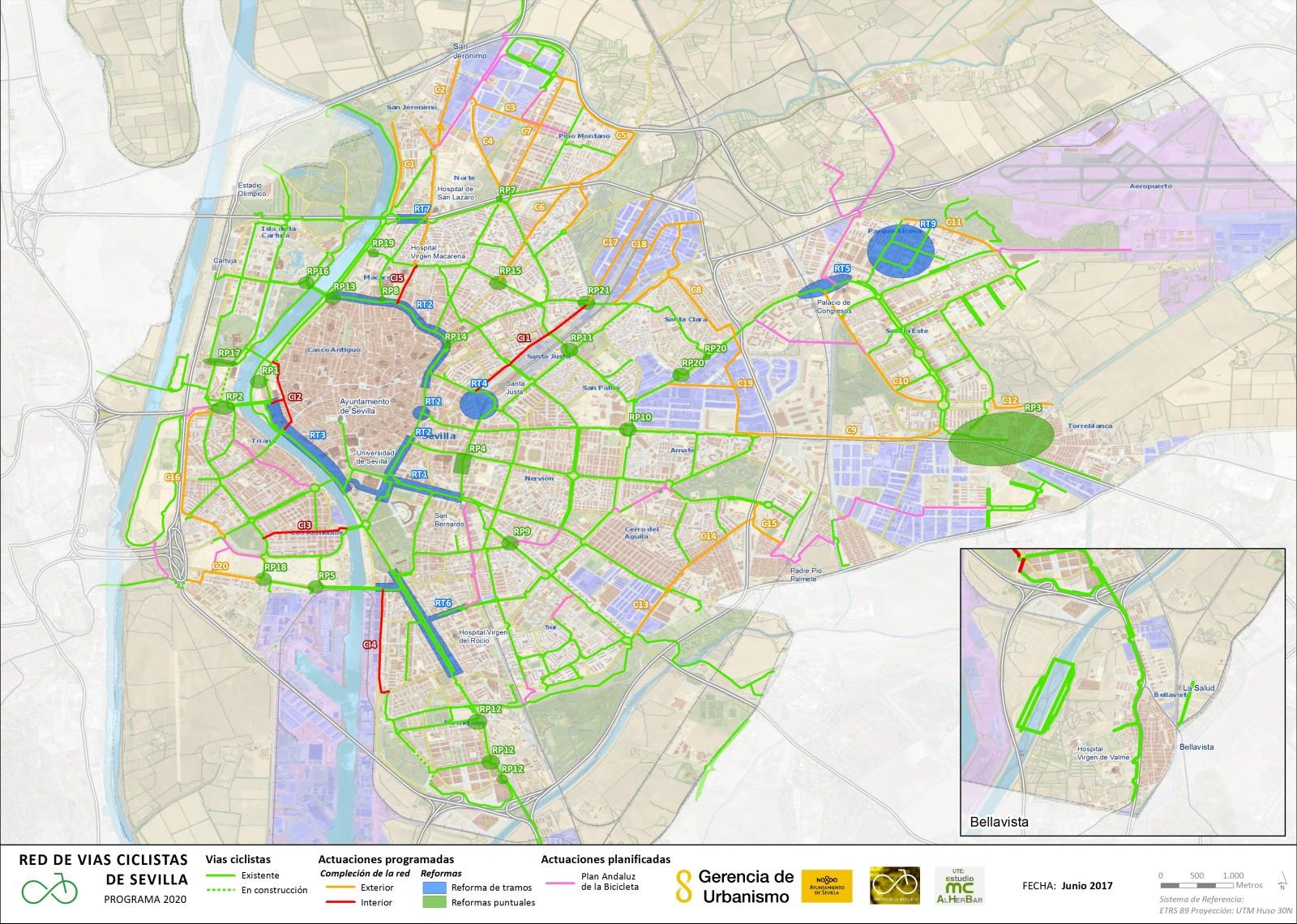 Radentwicklungsplan Sevilla 2017 2020 Ausbau Radwegenetz Planungen