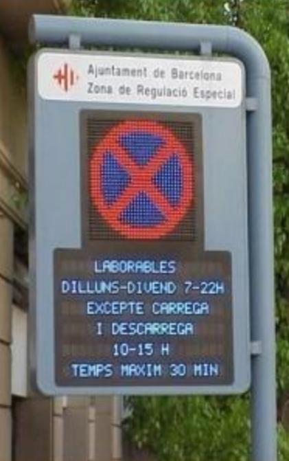 Ladezone dynamisch signalisiert Barcelona