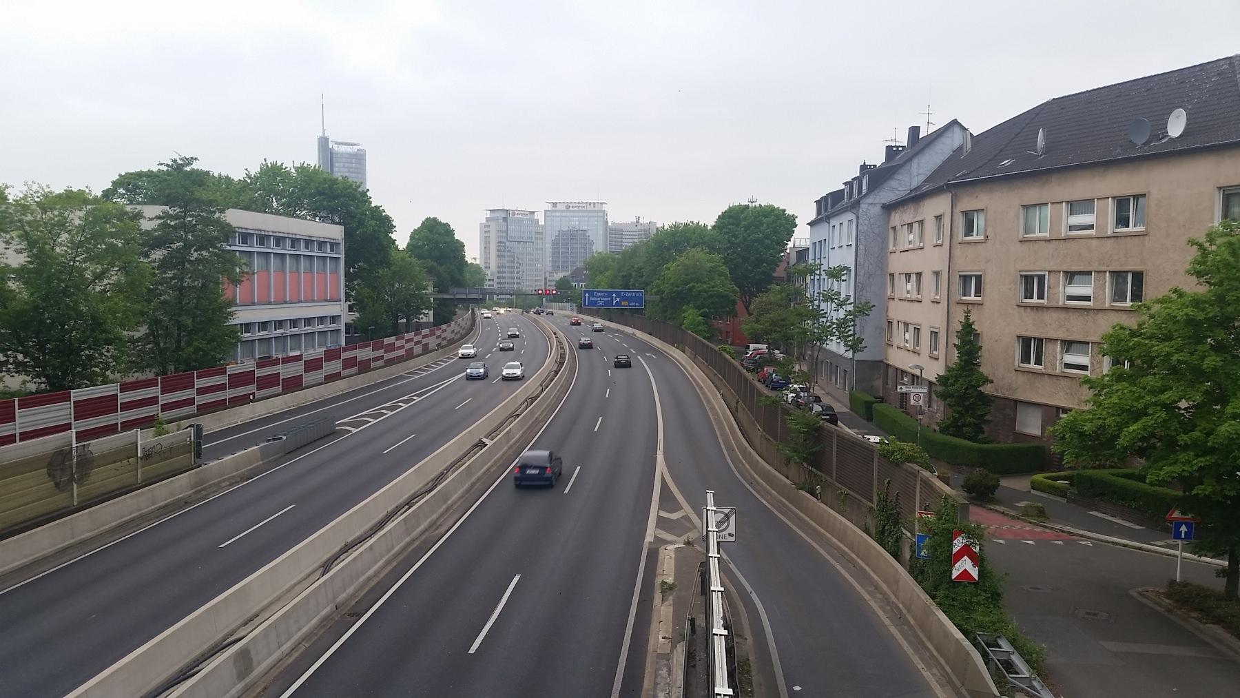 Bild der A40 in Essen Fahrverbot Stadt Diesel