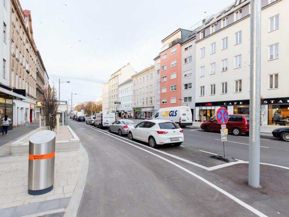 Favoritenstraße Wien Radverkehr Umbau Fotos