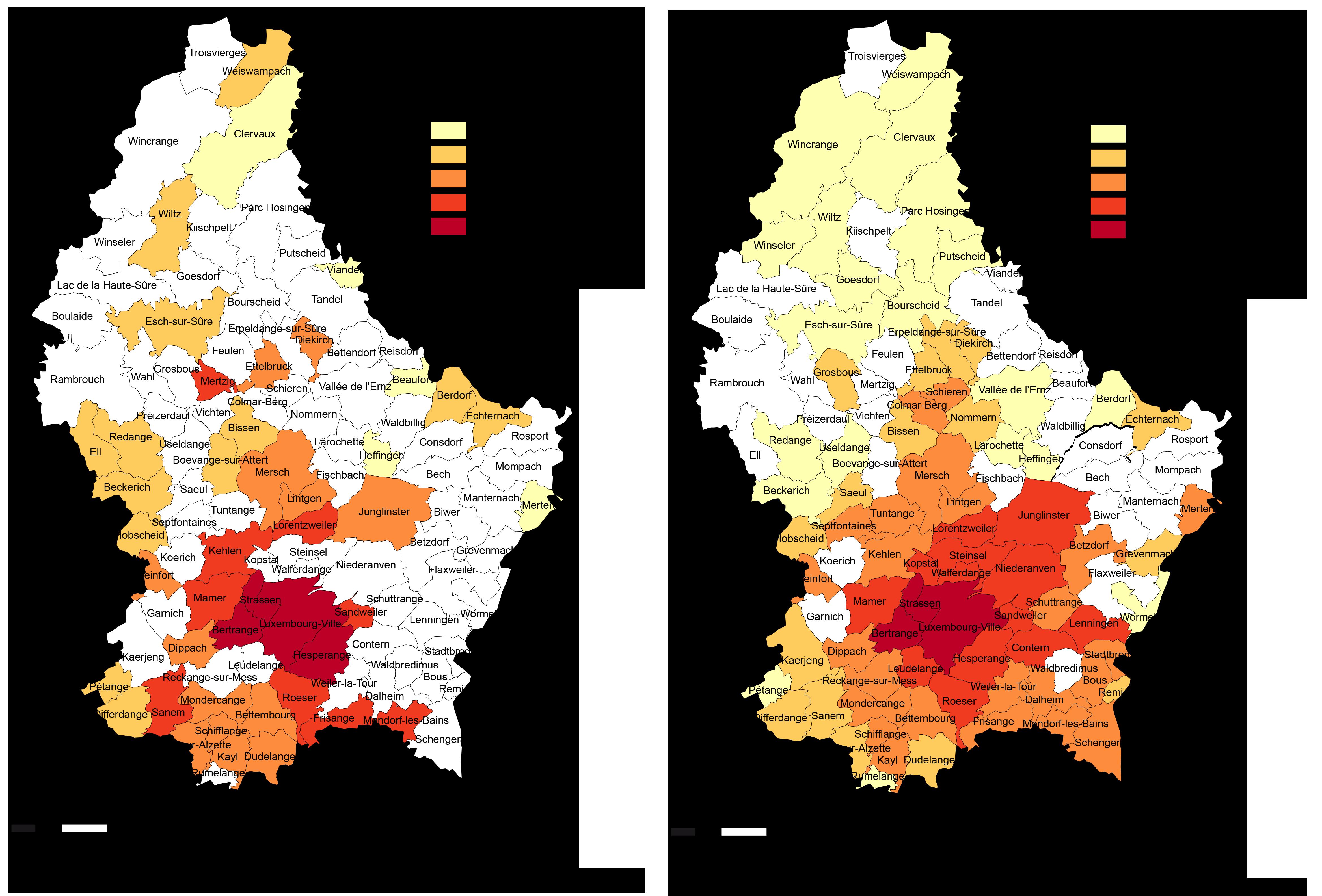 Kaufpreisniveau Eigentumswohnungen Luxemburg 2017