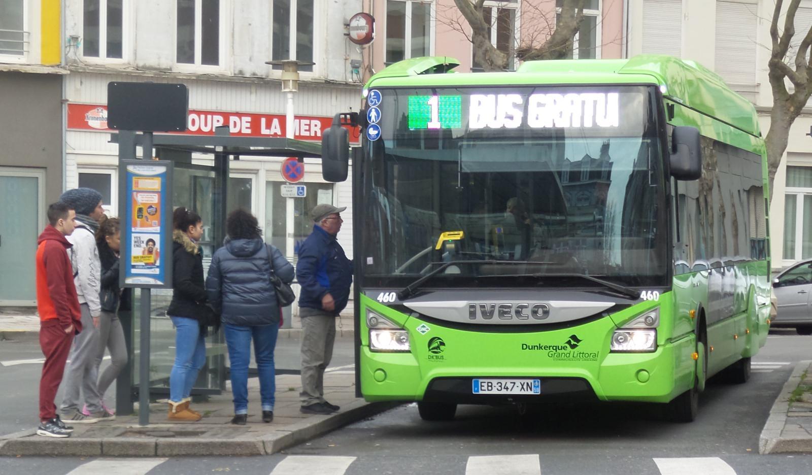 Bus in Dünkirchen gratis kostenfreier ÖPNV