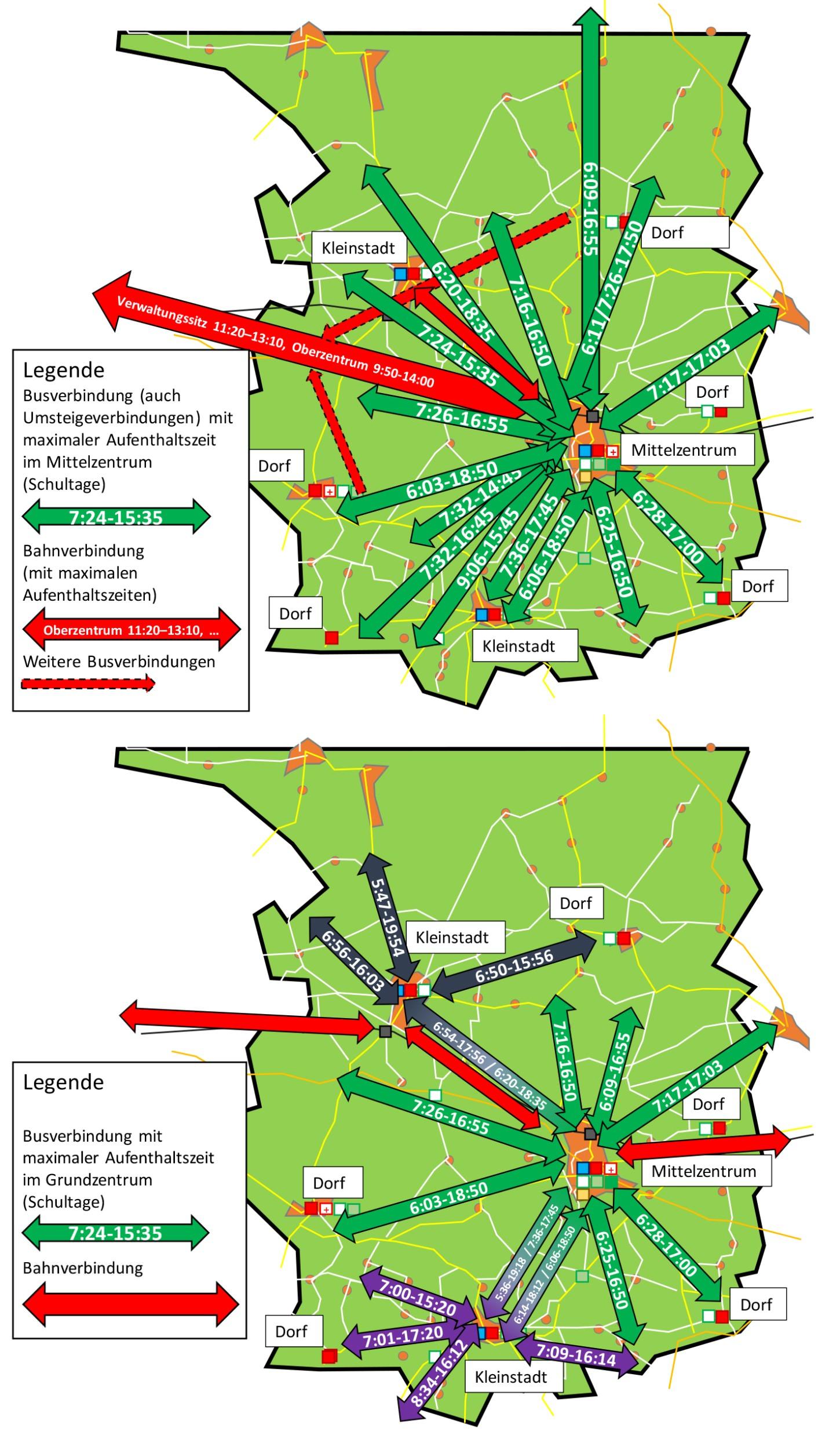 ufenthaltslänge Maximal ÖPNV-Abfahrten ländlicher Raum