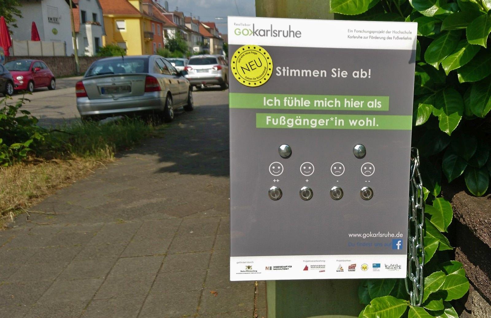 Reallabor Go Karlsruhe Fußverkehr