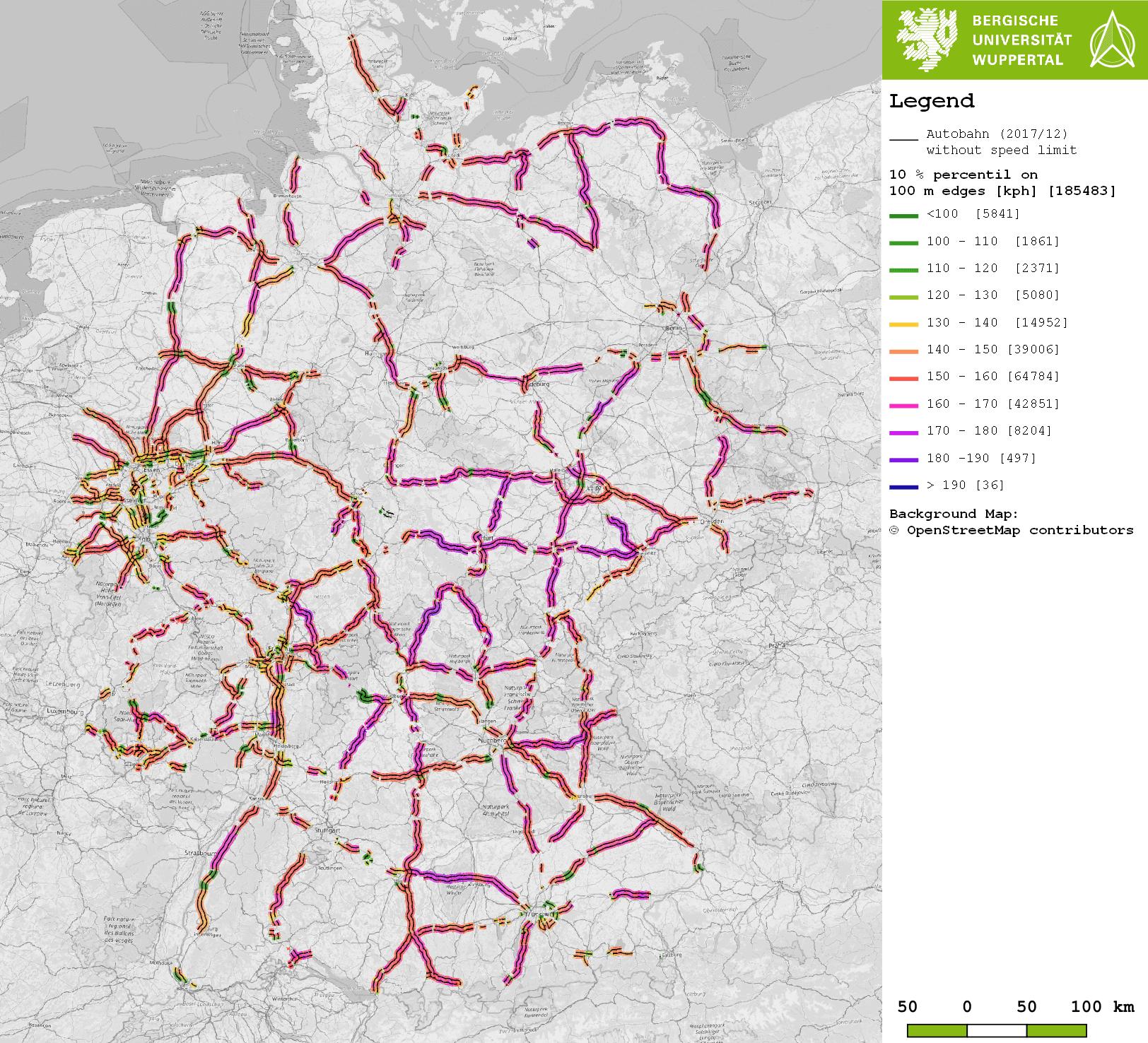 Limit Karte Deutschland